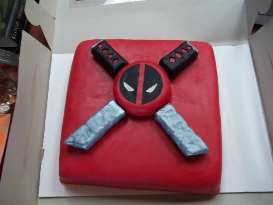 Awe Inspiring Deadpool Cake Picture Of Roserock Cafe Tulsa Tripadvisor Personalised Birthday Cards Veneteletsinfo