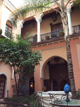 Riad Amina: view from the courtyard