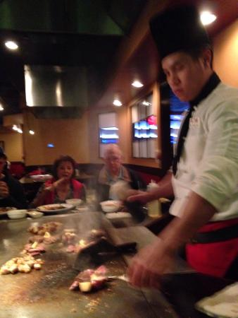Vinny!! Tending to the filet !!