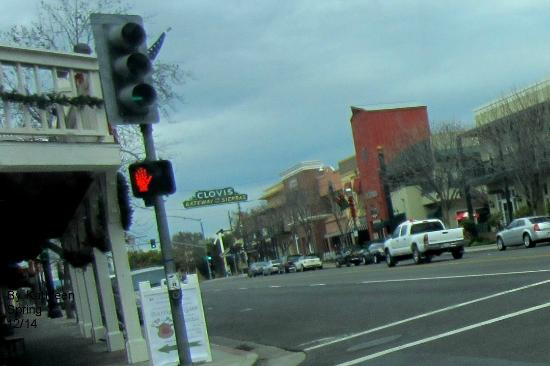 Old Town Clovis - one of the bordering streets