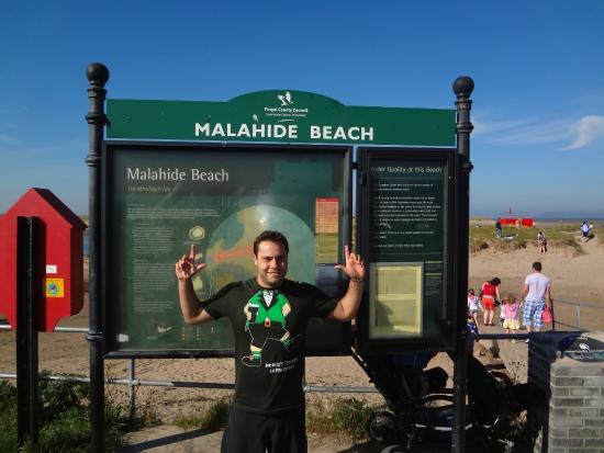 Malahide Beach: Malahide sign