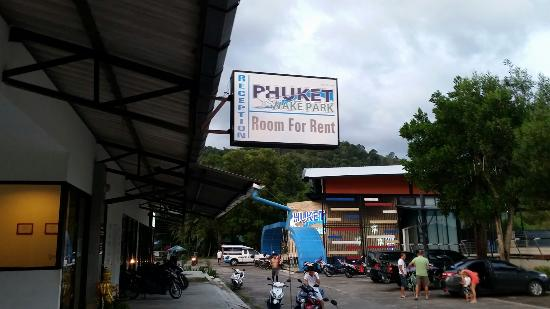 Phuket Wake Park Apartments: in front of hotel