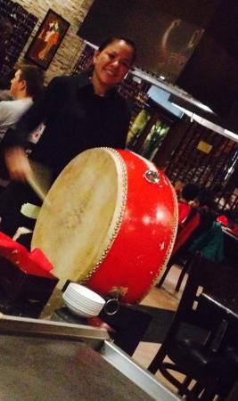 Osaka Hibachi Grill and Sushi Bar: Taiko drum