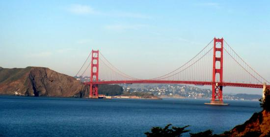 View Of Golden Gate Bridge From China Beach San Francisco Ca