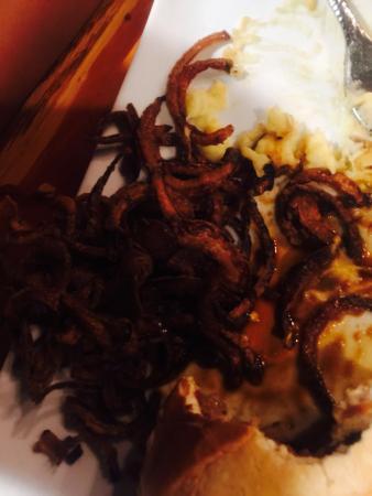 Ore House: Burnt onion rings