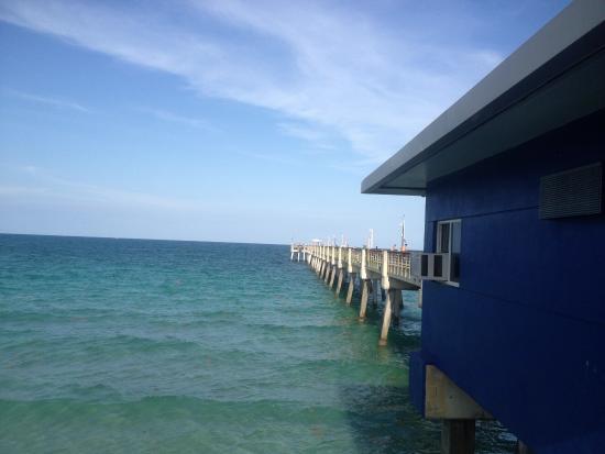 Quarterdeck Seafood Bar & Gril: La vista desde la terraza.