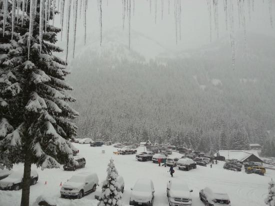 Crystal Mountain Hotels Alpine Inn : Parking... Possible Ski in-out