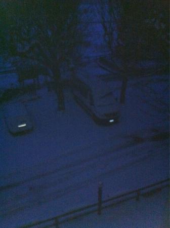 Munderfing, Австрия: Nevicata notturna