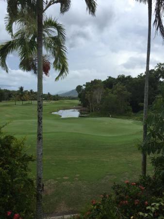 Paradise Links Resort Port Douglas: The view from the master bedroom of the 3rd hole of the golf course.  :)