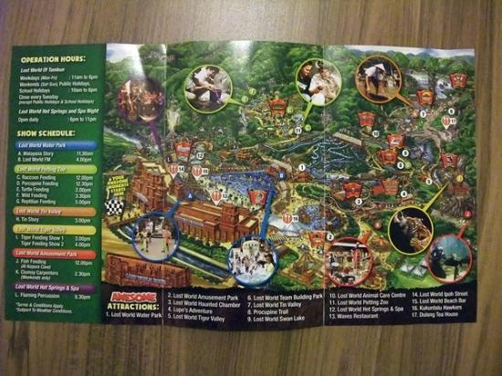 Theme Park Map Picture of Lost World Hotel Ipoh TripAdvisor