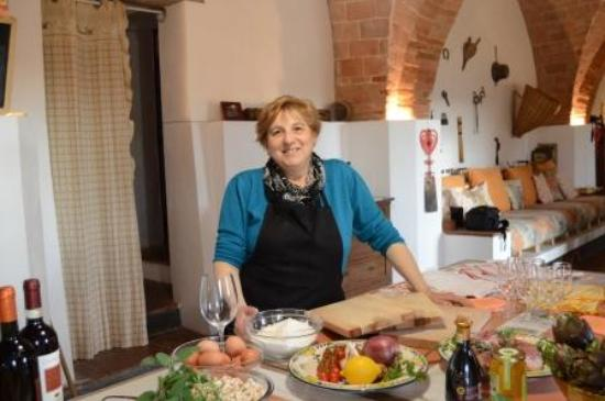 Arianna & Friends Day Tours : Ester, one of our chefs at My Tuscan Kitchen cooking school