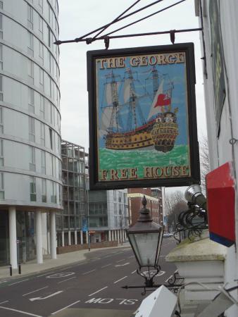 The George Hotel: Hotel pub sign