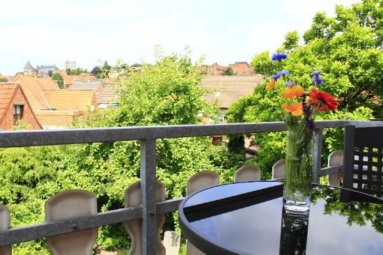 Pension altes Wasserwerk: Aussicht vom Balkon
