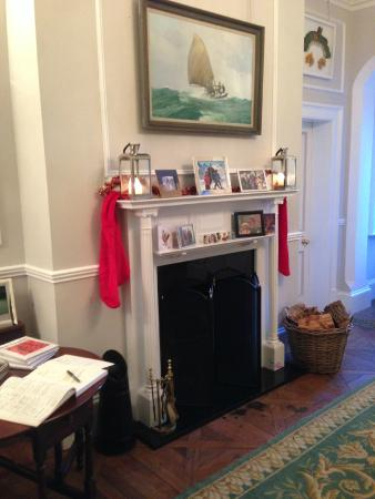The Old Rectory Country House: The Hallway set for Xmas - Restored January 2015