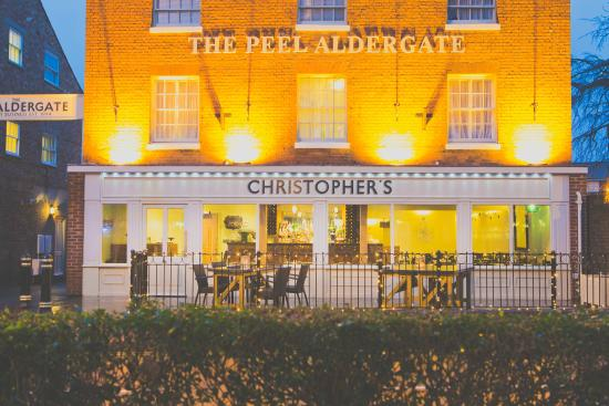 Christopher's at the Peel Aldergate: View from the gardens
