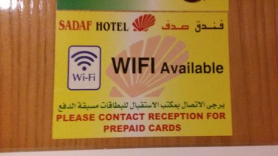 Sadaf Hotel: Pre paid