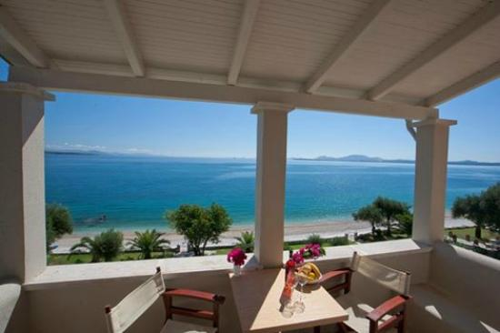Corfu Apartments by the Beach: Our top floor apartment view