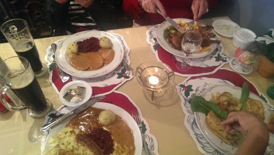 The German Restaurant: A German Christmas feast.