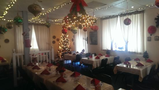 The German Restaurant Main Dining Room At Christmas