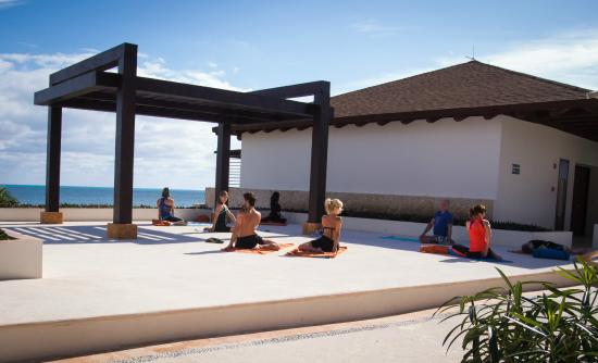 Morning Yoga At The Gazebo Terrace Picture Of Secrets