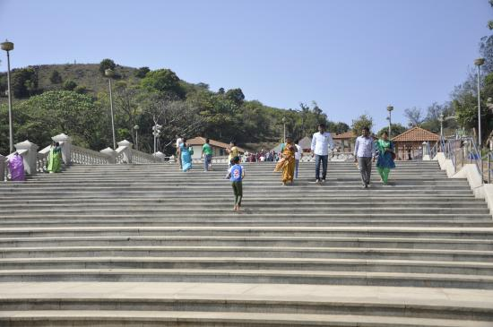 Talacauvery, India: Steps leading to the temple