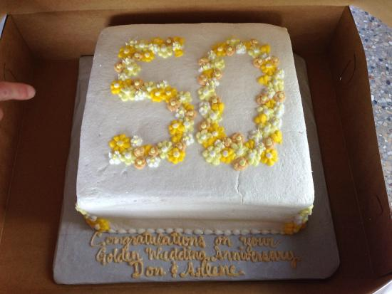 50th Wedding Anniversary Cake Picture Of O For Heaven S Cakes N