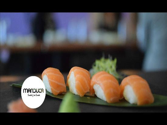 Restaurante Manduca: Nigiri de salmon