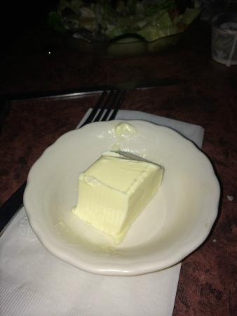 WIEDERHOLT'S SUPPER CLUB: Stick of butter on the table - just like Mom's house!