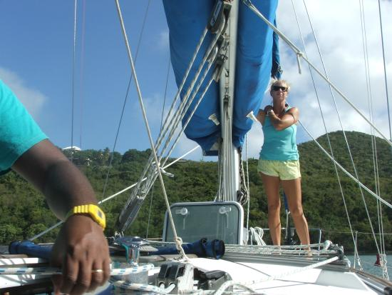 Cloud 9 Sailing Adventures: Loved Captian Darius and First Mate Allie!