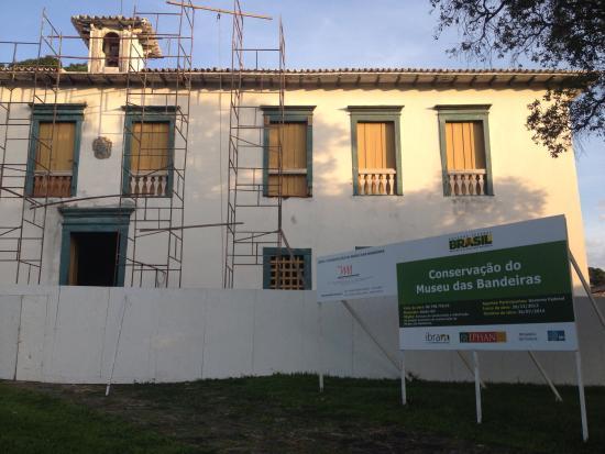 Museu das Bandeiras: Em reforma
