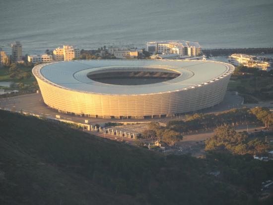 Cape Town Stadium (Green Point Stadium): Vista do estadio  de cima da Signal Hill