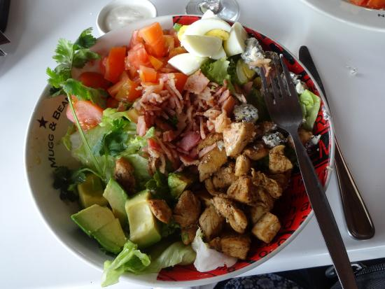 Letaba Rest Camp: A salad from Mugg & Bean, after I had tucked into it
