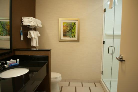 Fairfield Inn & Suites Oklahoma City Yukon : Room 200 Bathroom with walk-in shower