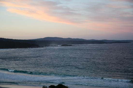 Bay of Fires Character Cottages: 夕焼け