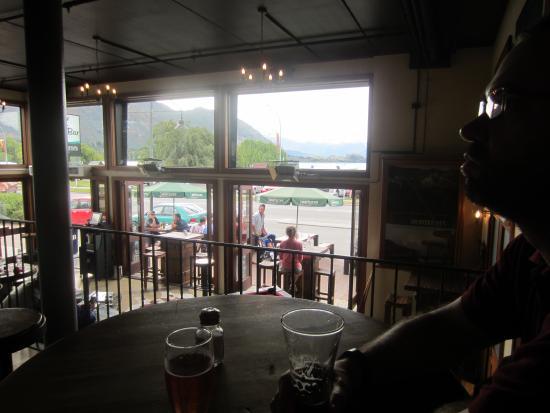 View from The Lake Bar towards Lake Wanaka