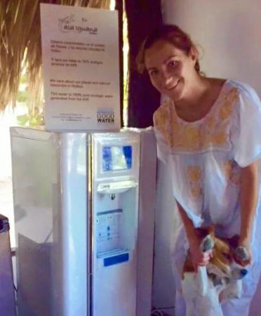 Casa Iguana Holbox: maquina Good Water