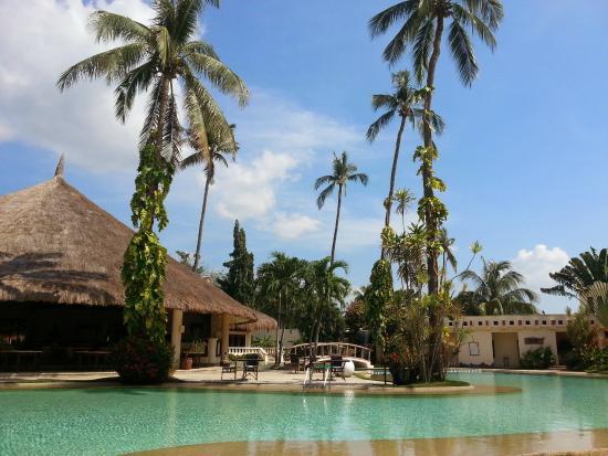 Pulchra : ホテルの真ん中にあるプール