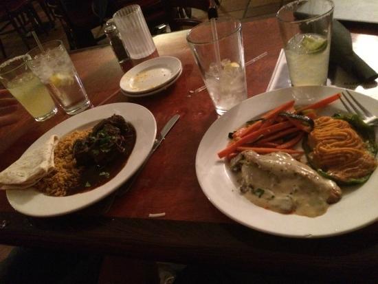 Blue Adobe Sante Fe Grille : Our dinners and drinks...