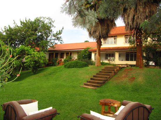 Karibu from the garden picture of karibu entebbe for Guest house on the mount reviews