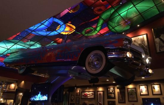 a car inside hard rock cafe houston picture of hard rock cafe houston tripadvisor. Black Bedroom Furniture Sets. Home Design Ideas