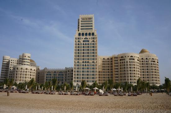 Waldorf Astoria Ras Al Khaimah: hotel view from the beach