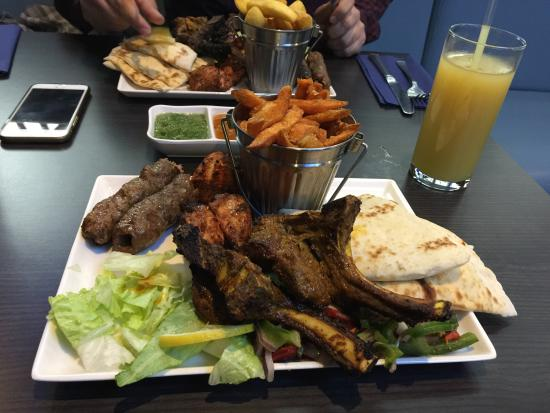 Rochdale, UK: The tandoori platter