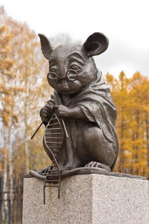 Monument of Laboratory Mice: осенью