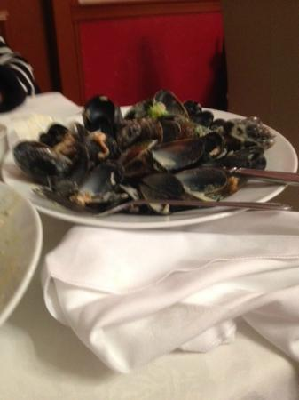 Queens Hotel: a delisious bowl of fresh mussels in a cream sauce