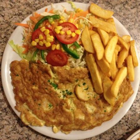 The Peristyle Restaurant : Ham Omlette with Salad and Fries