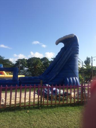 Aquasol Beach Park : Slide beside the beach.