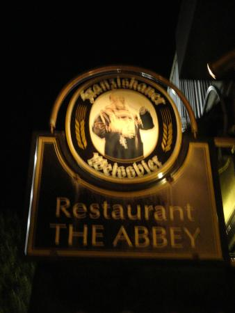 Abbey: The sign out front
