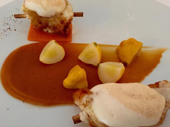 Le Grand Vefour: Lotte et purée de patates douces