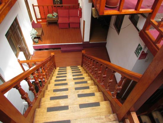 Pirwa Posada del Corregidor: Escada do 2 andar do Hotel