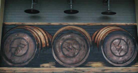T a l ent mural picture of the whiskey kitchen virginia for Whiskey kitchen virginia beach